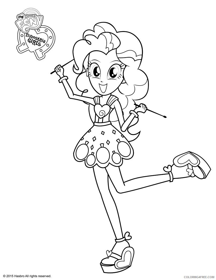 equestria girls coloring pages pinkie pie Coloring4free