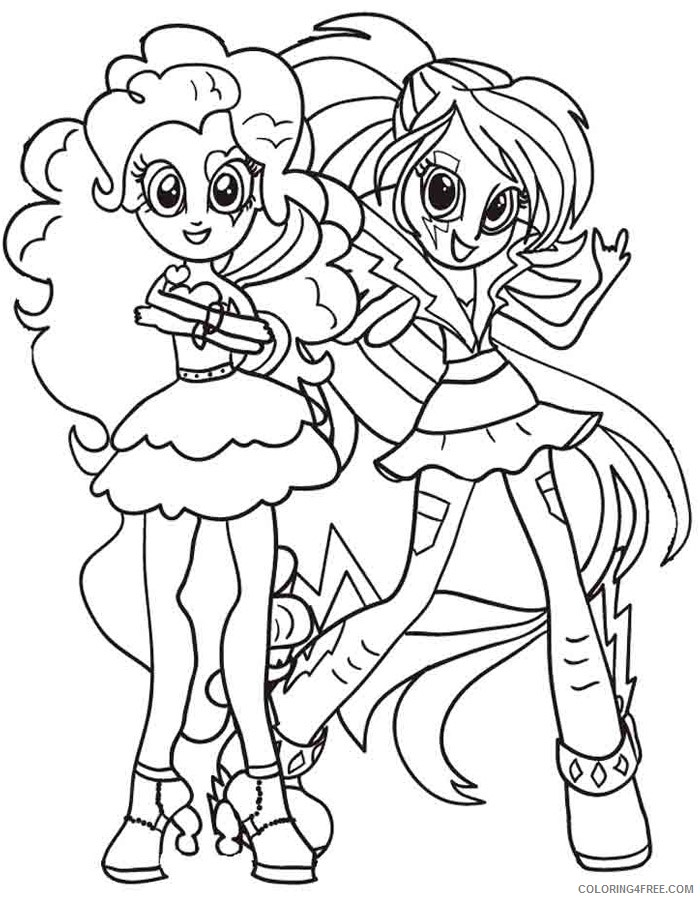 equestria girls coloring pages pinkie pie and rainbow dash Coloring4free