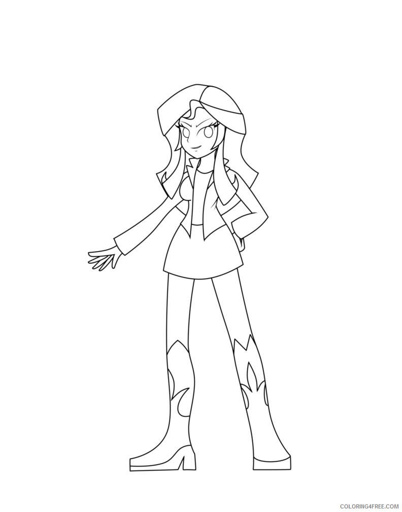 equestria girls coloring pages sunset shimmer Coloring4free