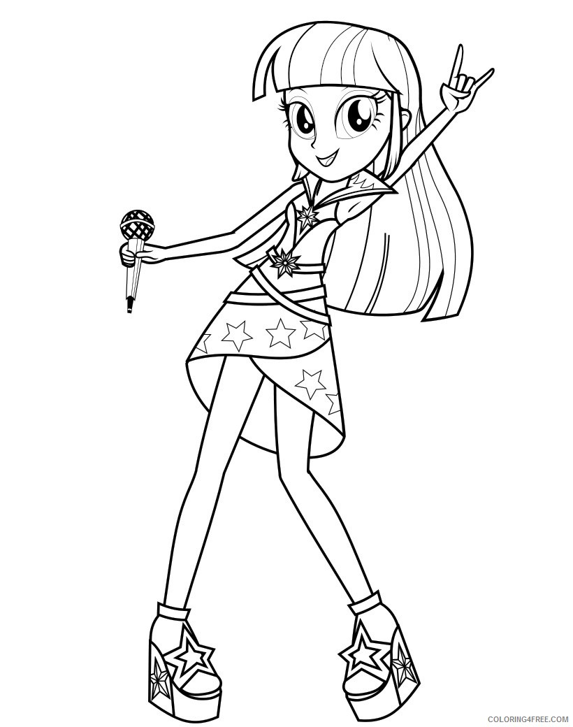 equestria girls coloring pages twilight sparkle Coloring4free