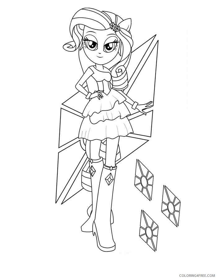 equestria girls rarity coloring pages Coloring4free
