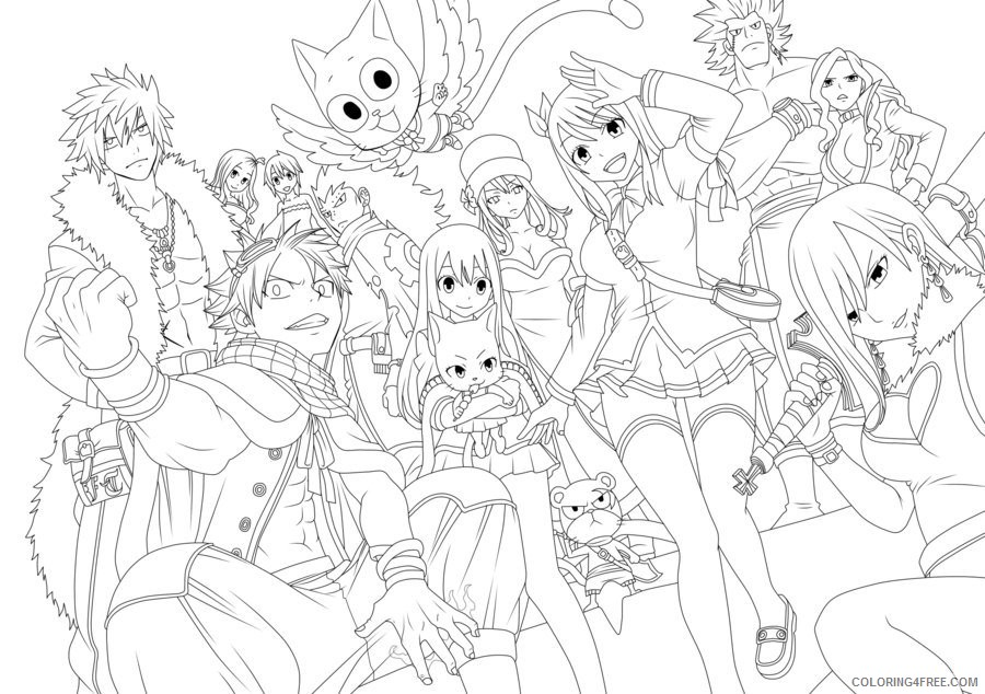 Fairy Tail Coloring Pages Concept Frozen Fairy Tales Coloring ... | 634x900