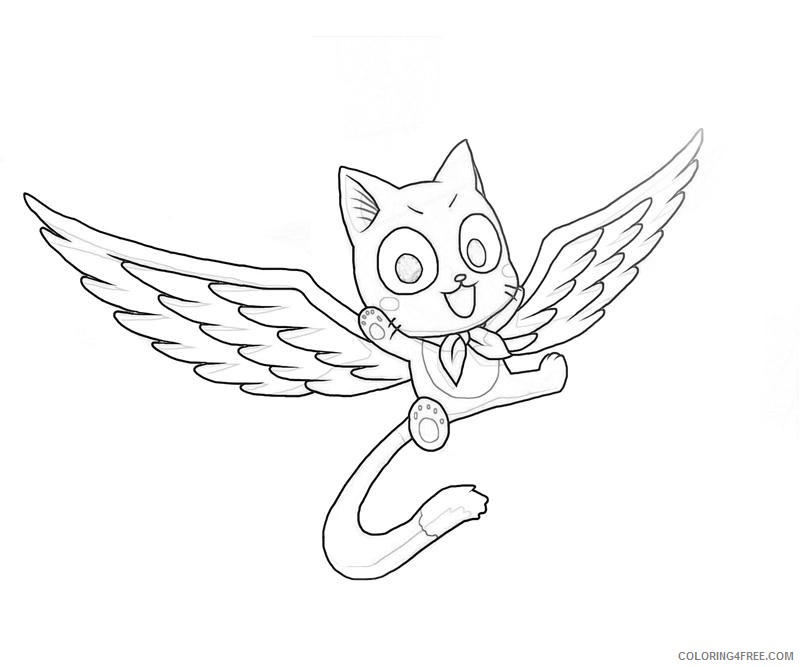 fairy tail coloring pages happy Coloring4free