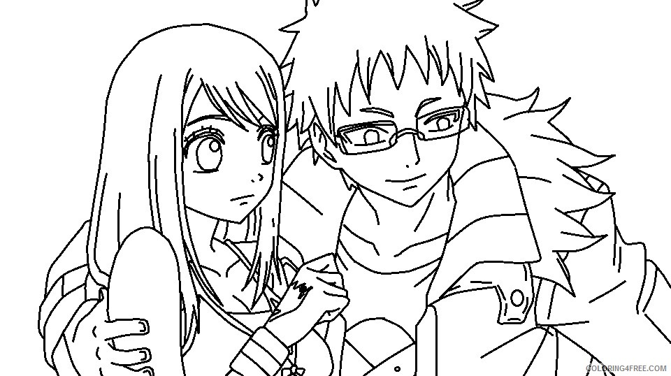 fairy tail coloring pages loke and lucy Coloring4free