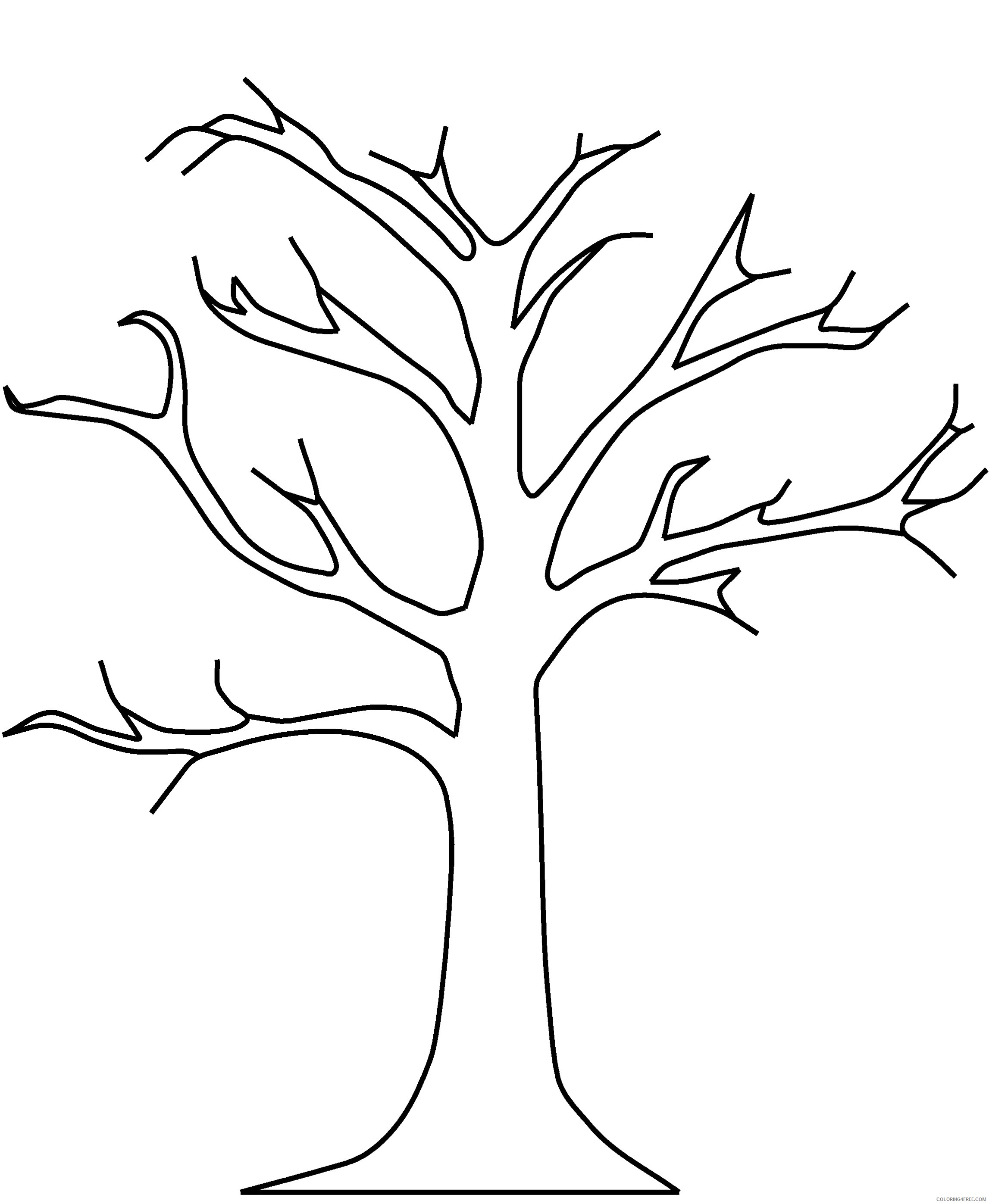 fall tree coloring pages without leaves Coloring4free