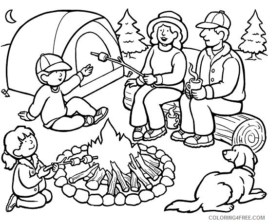 family camping coloring pages Coloring4free