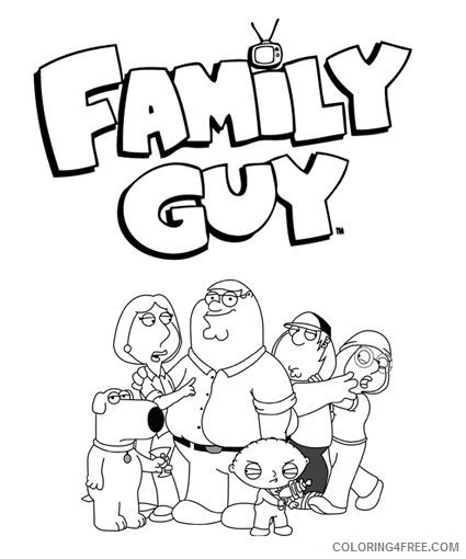 family guy coloring pages to print Coloring4free