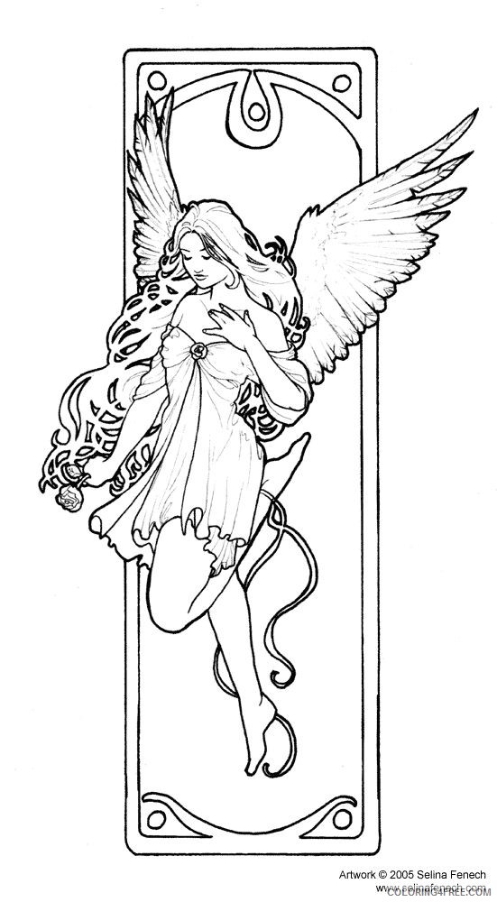 fantasy coloring pages beautiful fairy Coloring4free