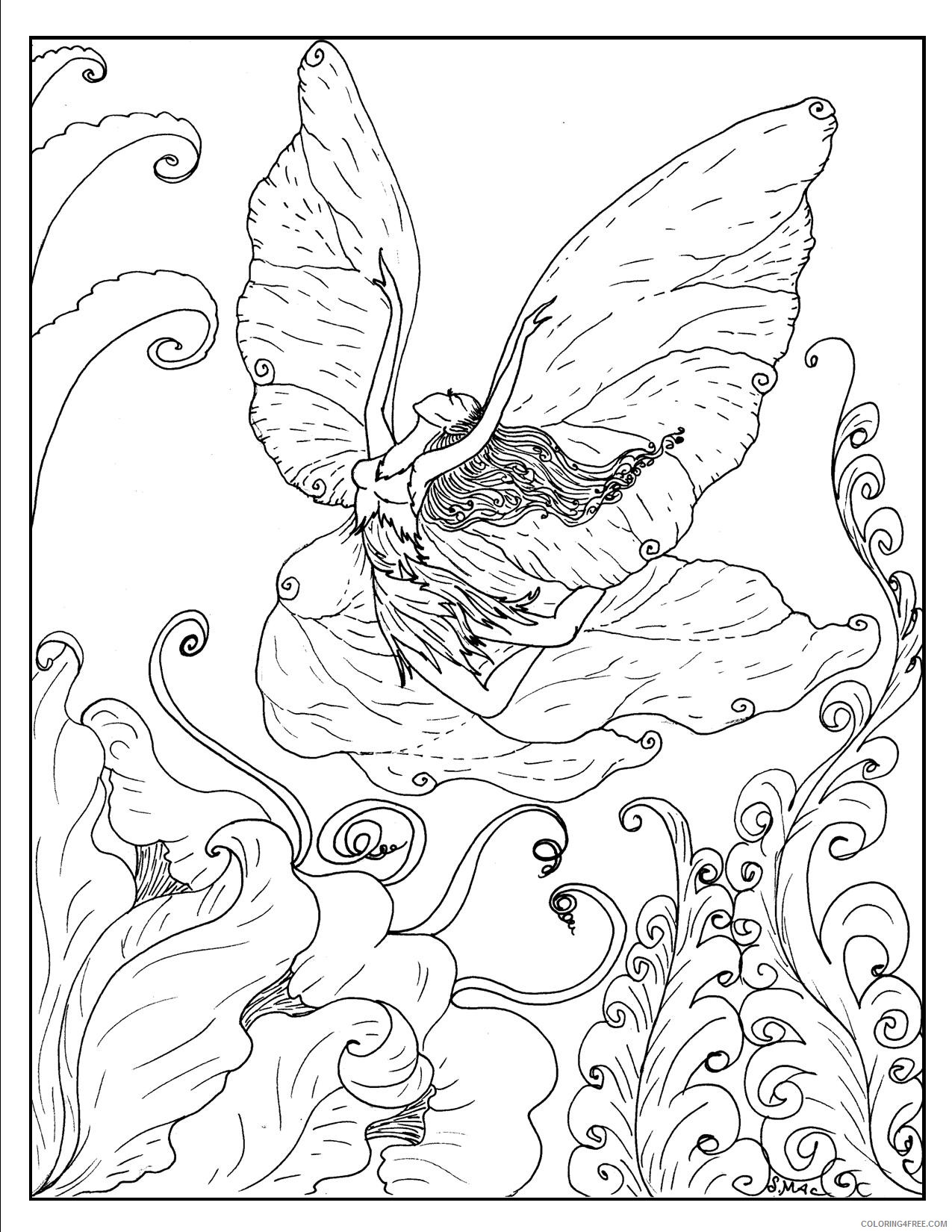 fantasy coloring pages elf Coloring4free