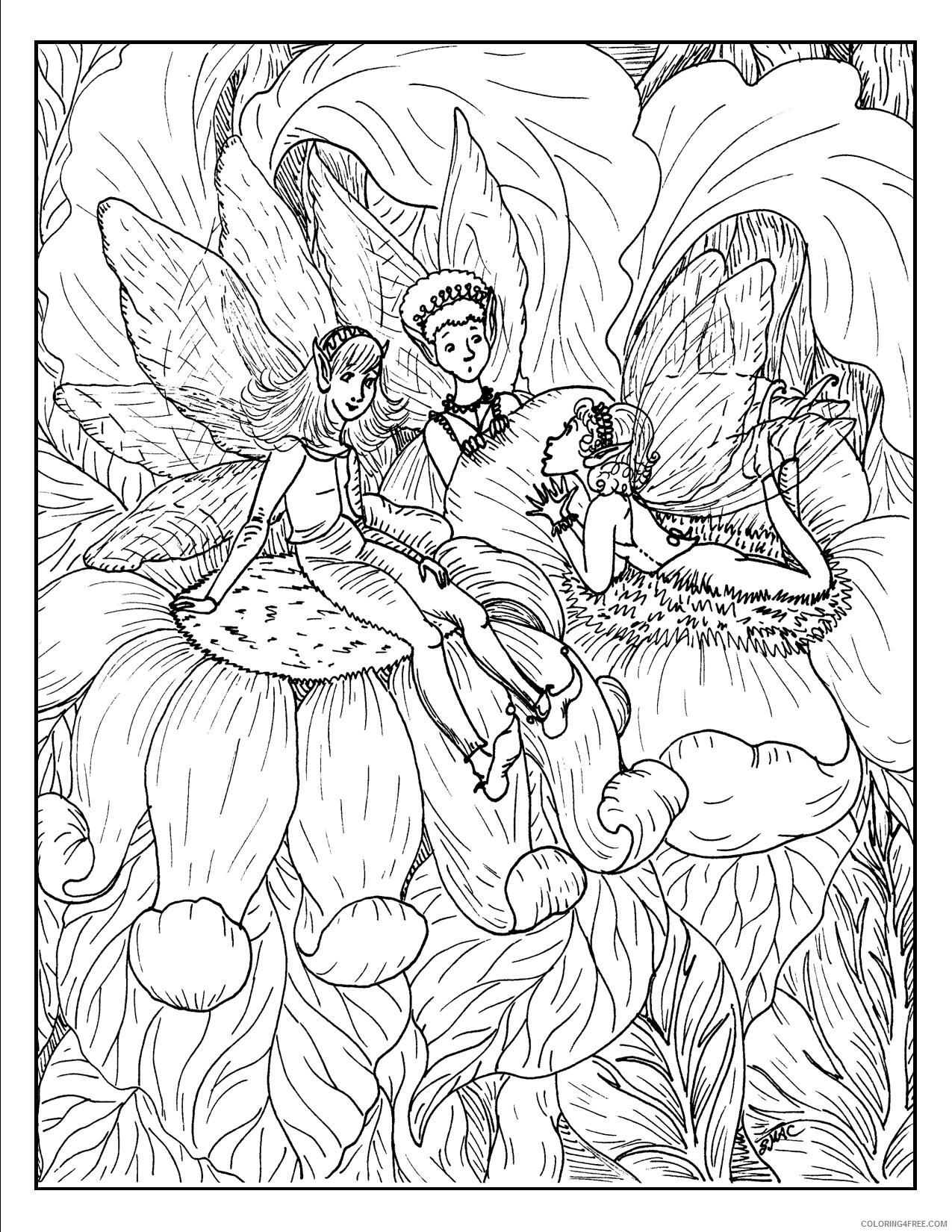 fantasy coloring pages fairies Coloring4free