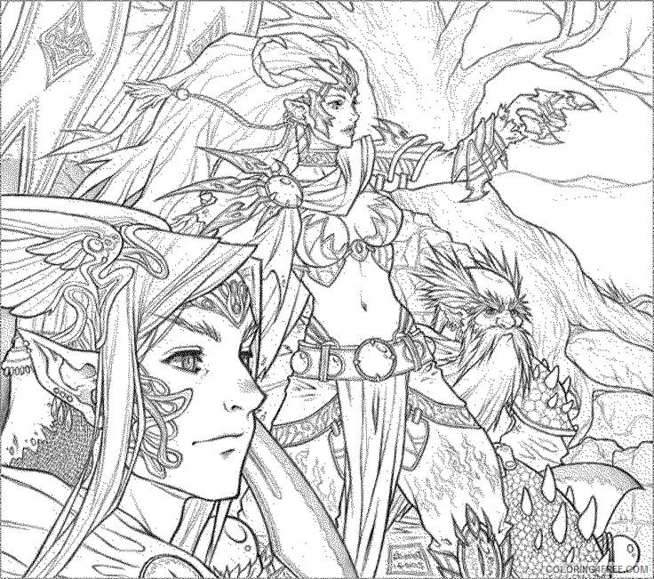 fantasy coloring pages for adults Coloring4free