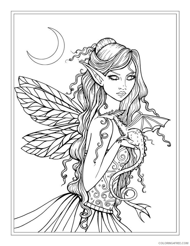 fantasy coloring pages printable Coloring4free