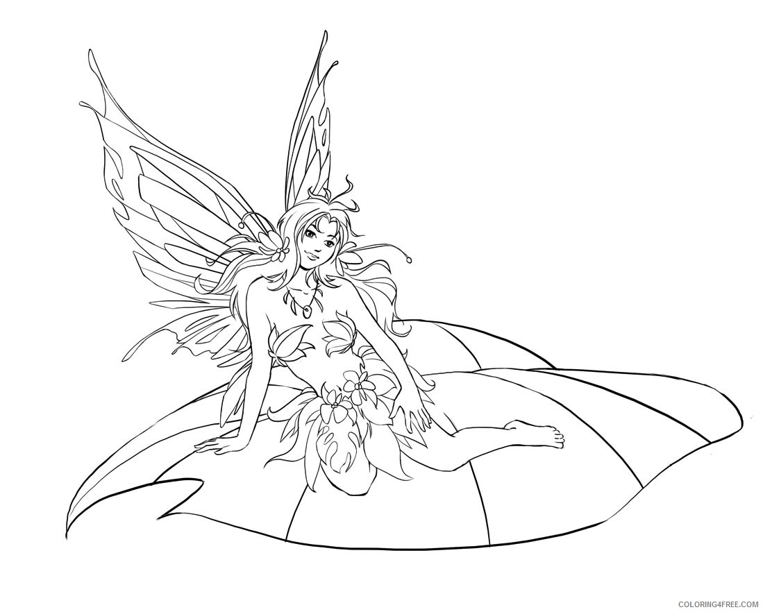 fantasy coloring pages to print Coloring4free