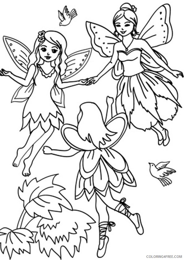 fantasy fairies coloring pages for kids Coloring4free