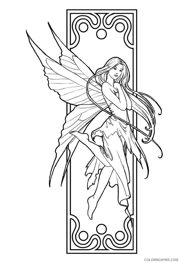 fantasy fairy coloring pages Coloring4free