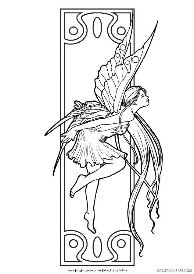fantasy fairy coloring pages printable Coloring4free