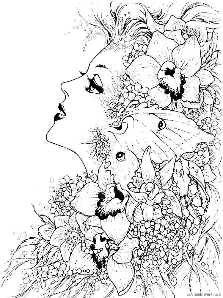 fantasy girl coloring pages Coloring4free