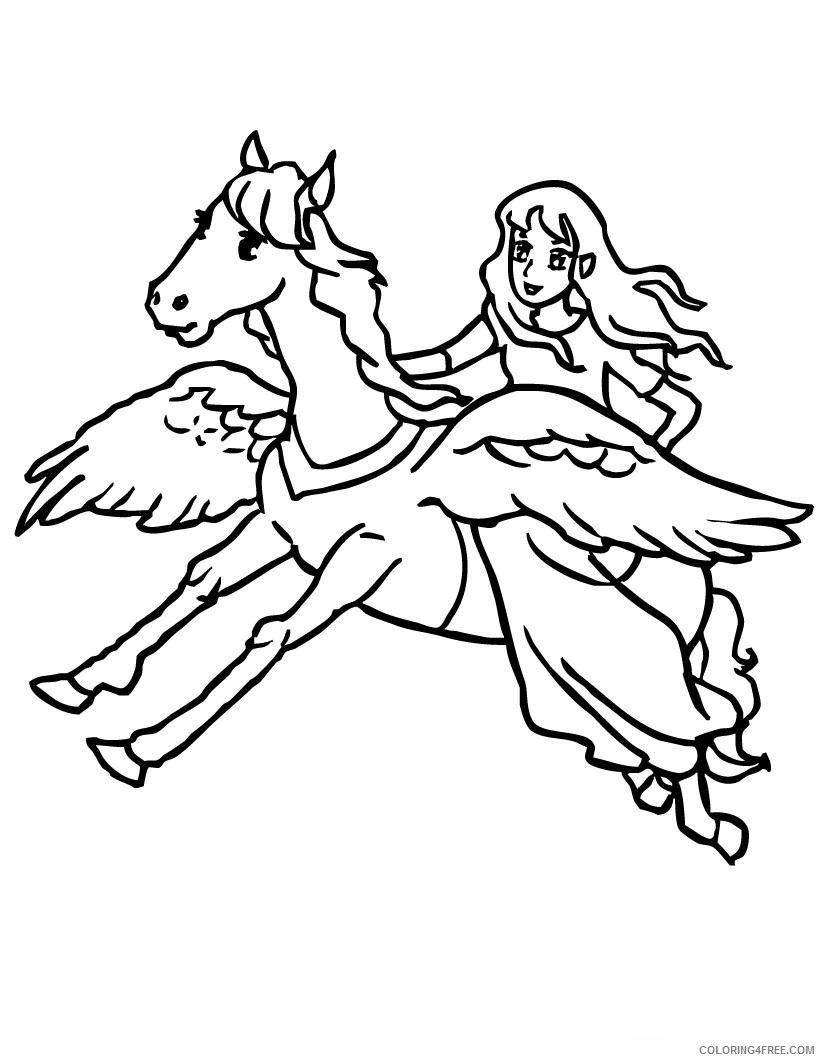 fantasy unicorn coloring pages for kids Coloring4free