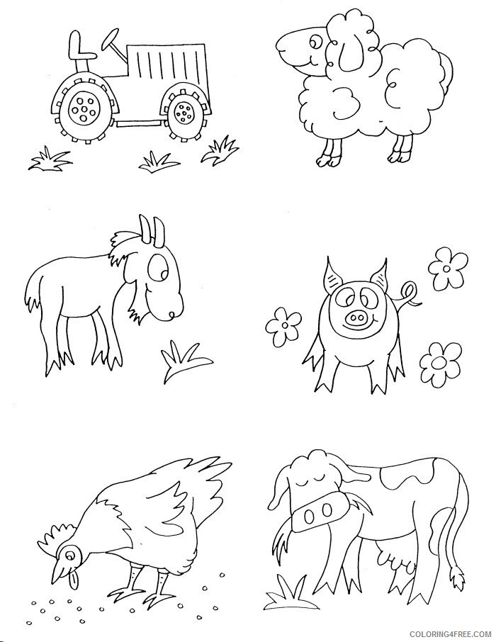 farm animal coloring pages for preschool Coloring4free
