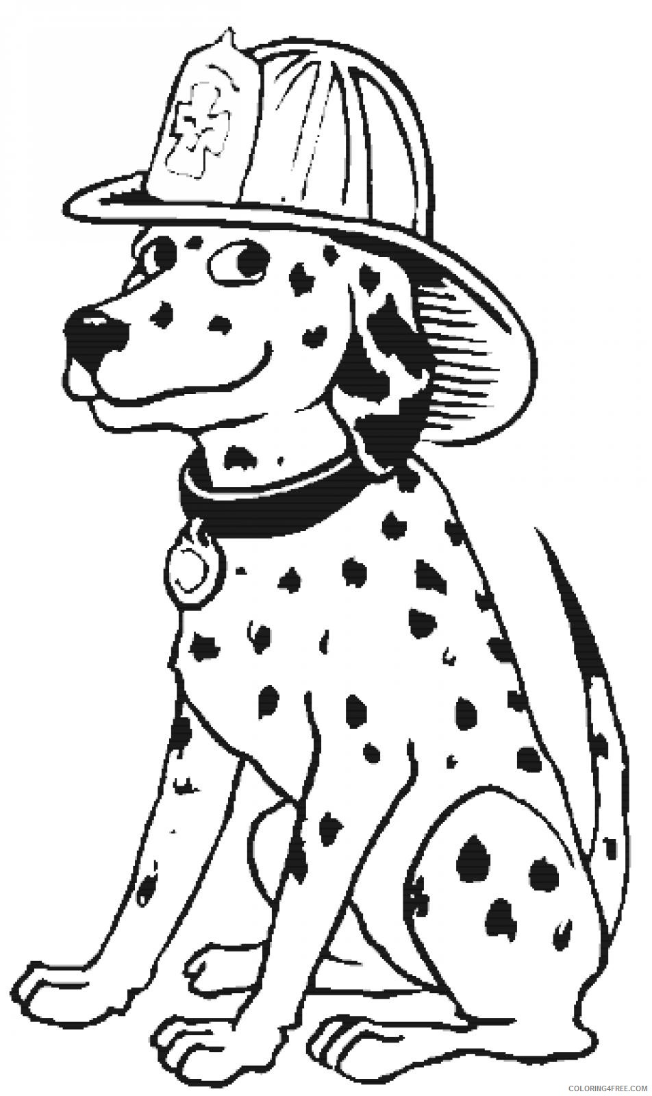 firefighter coloring pages dalmatian Coloring4free
