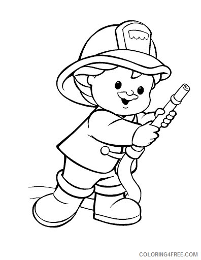 firefighter coloring pages for kids Coloring4free