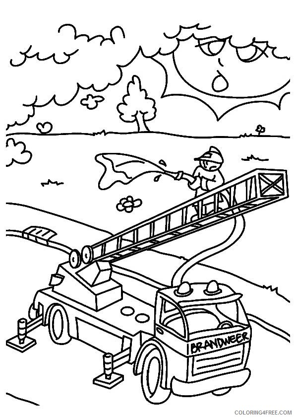 firefighter coloring pages for kindergarten Coloring4free