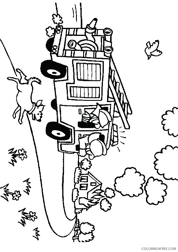 firefighter coloring pages house fire Coloring4free