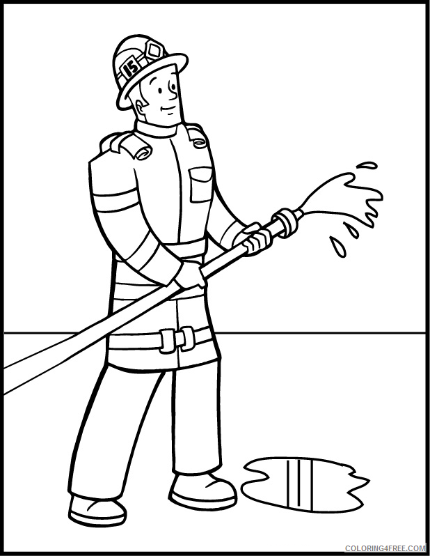 firefighter coloring pages printable Coloring4free