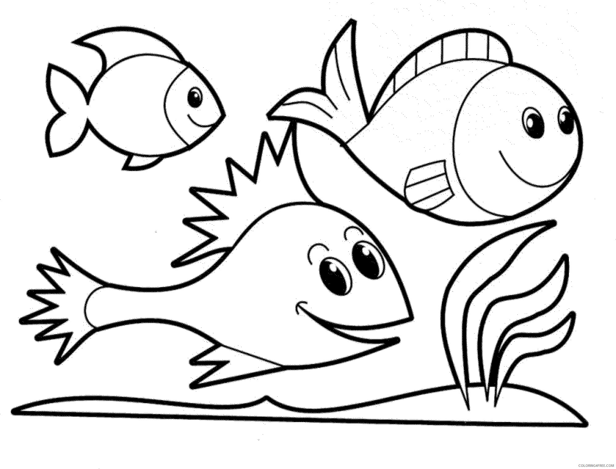 fish coloring pages for kindergarten Coloring4free