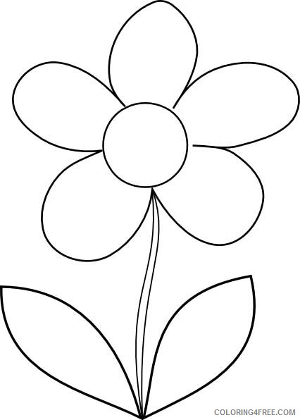 flower coloring pages for kindergarten Coloring4free