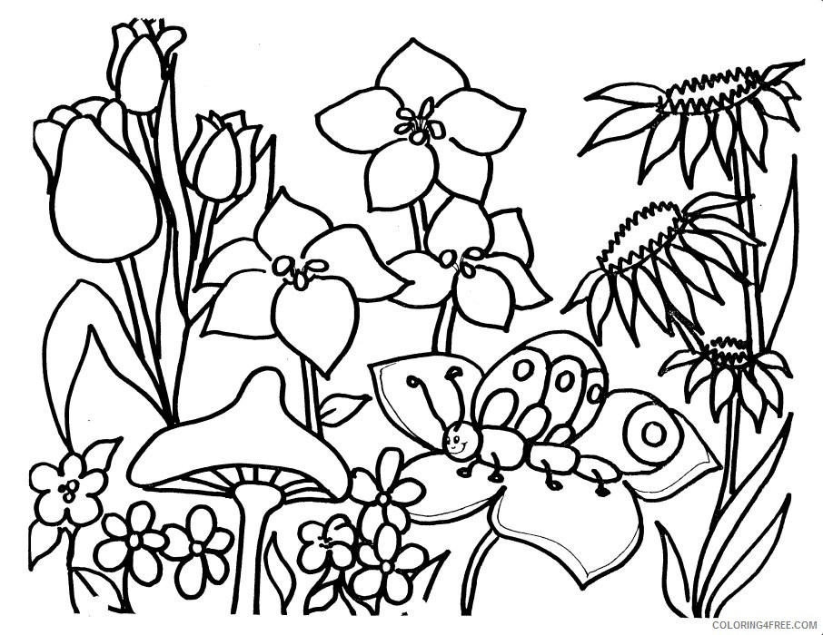 flower garden coloring pages Coloring4free