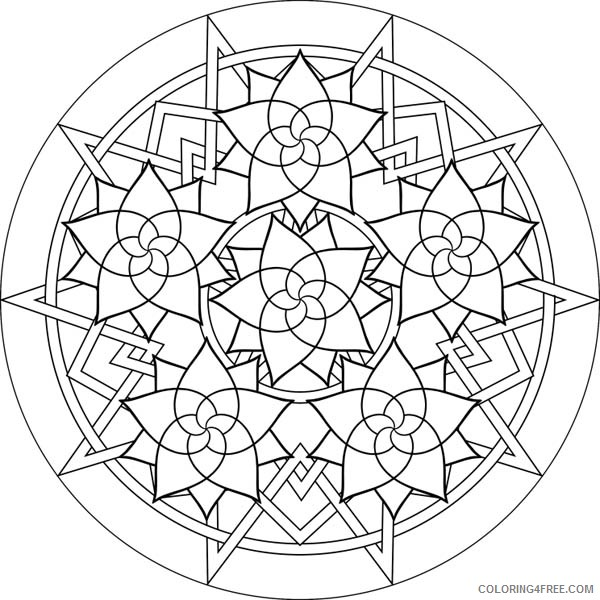 flower mandala coloring pages for girls Coloring4free