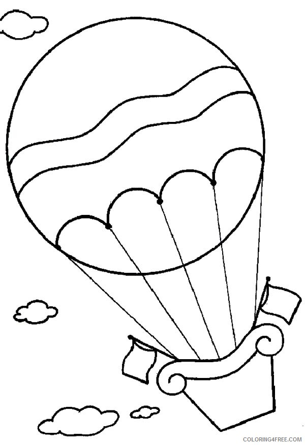 flying hot air balloon coloring pages Coloring4free
