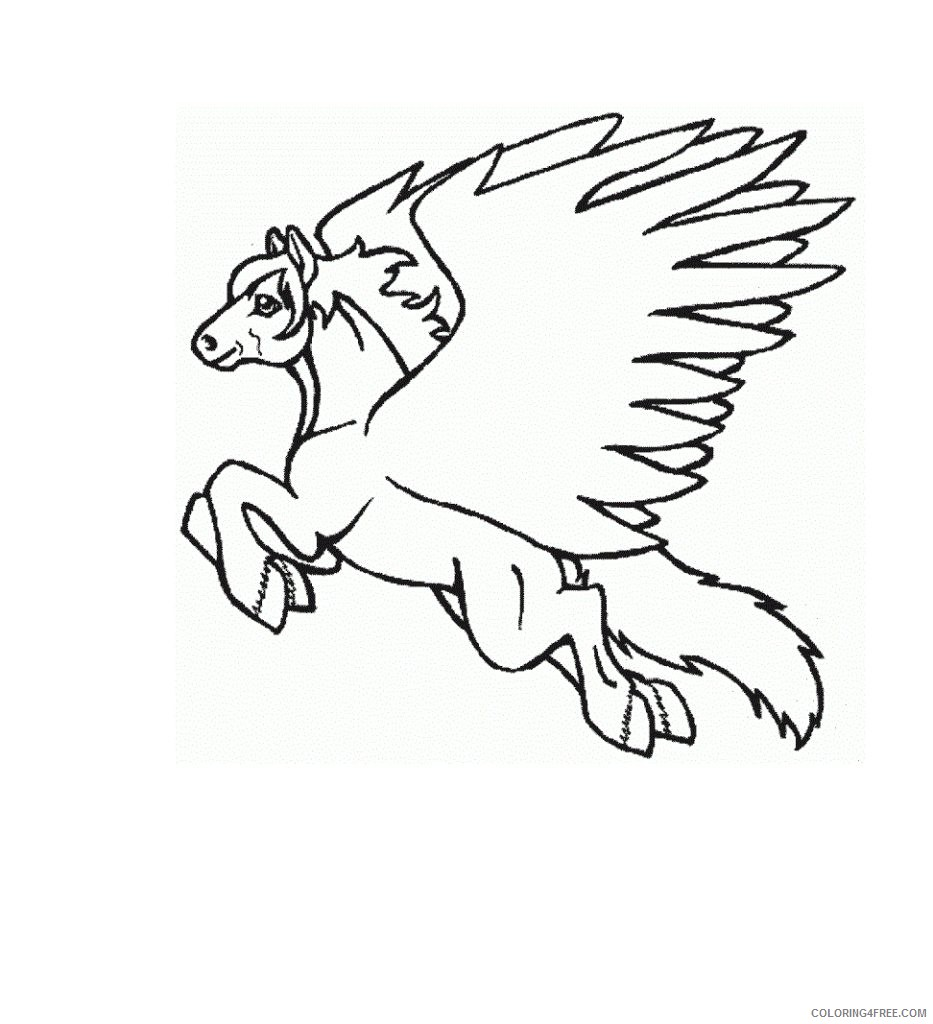 flying pegasus coloring pages for kids Coloring4free