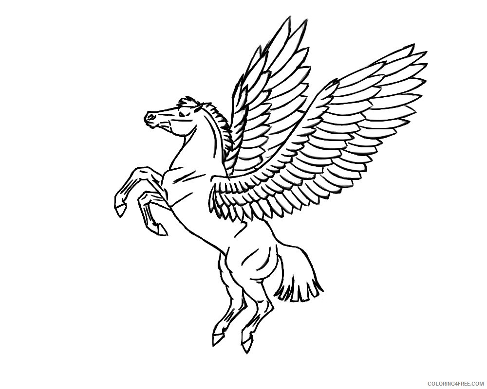 flying pegasus coloring pages to print Coloring4free