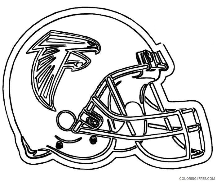 football helmet coloring pages atlanta falcons Coloring4free
