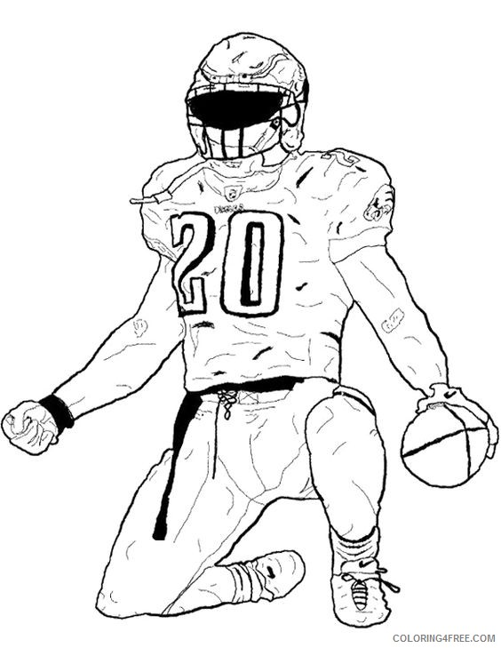 football player coloring pages celebration Coloring4free