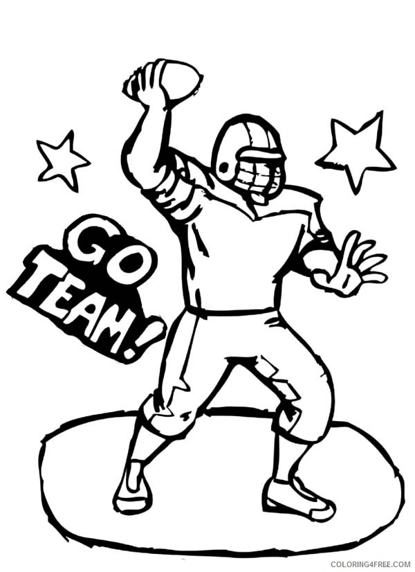football player coloring pages free Coloring4free