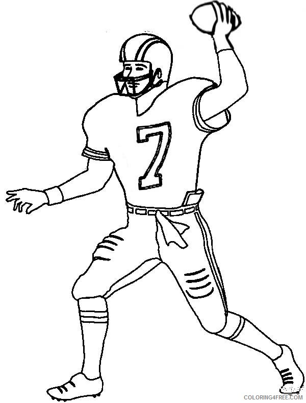 football player coloring pages to print Coloring4free