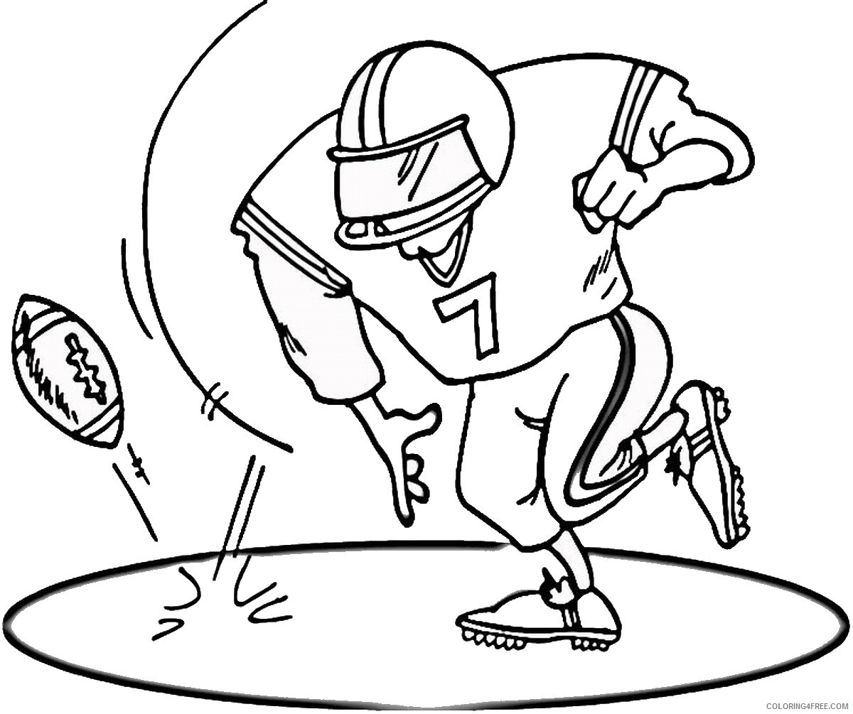 football player coloring pages touchdown Coloring4free