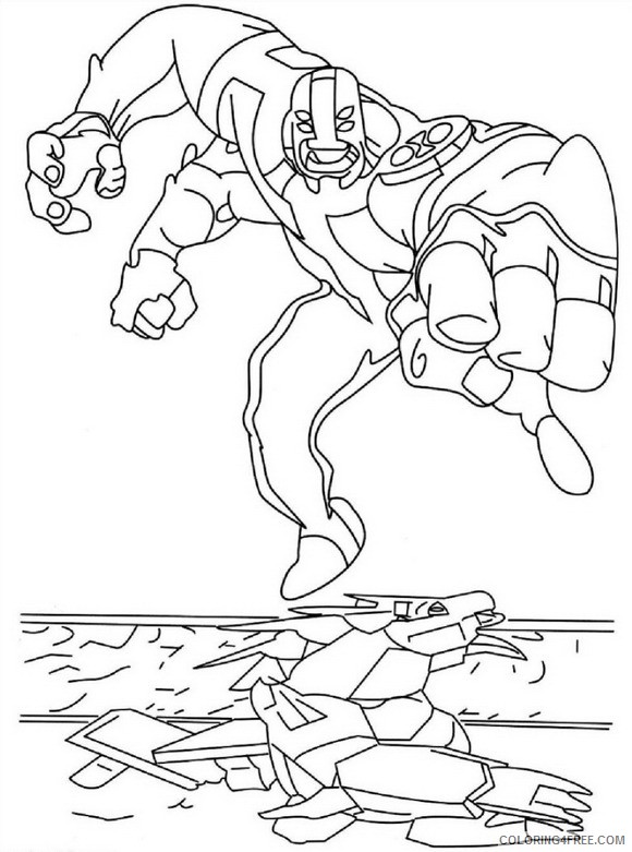 four arms ben 10 coloring pages Coloring4free