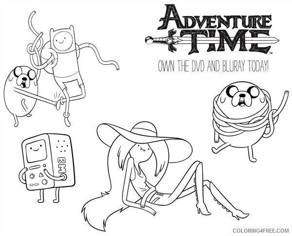 free adventure time coloring pages to print Coloring4free