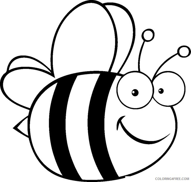 free bee coloring pages for kids Coloring4free