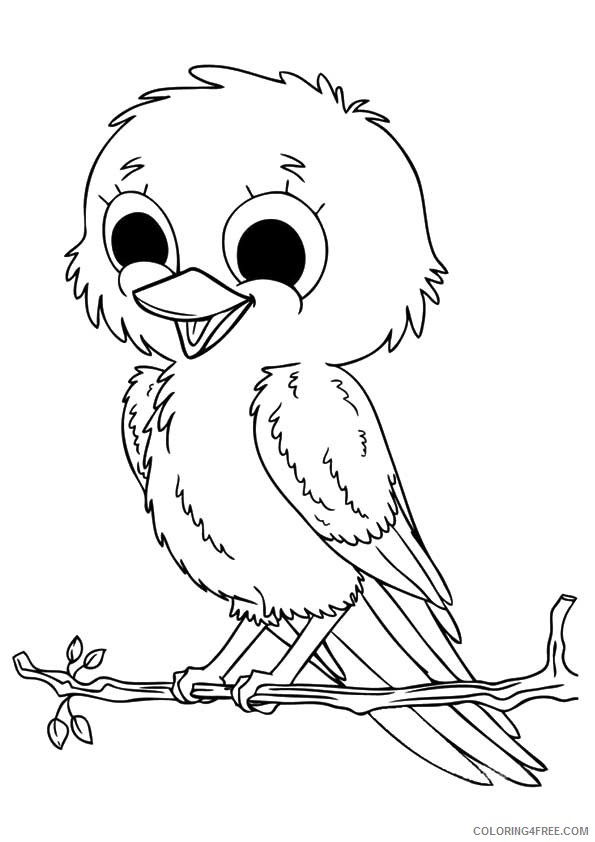 free bird coloring pages for kids Coloring4free