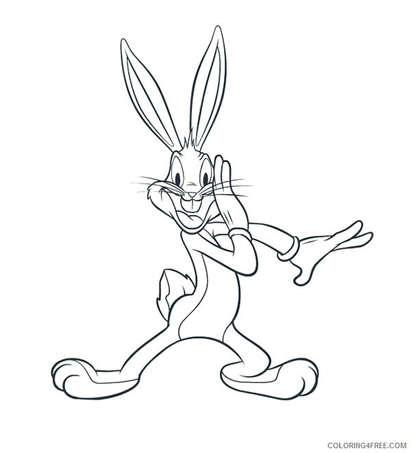 free bugs bunny coloring pages to print Coloring4free