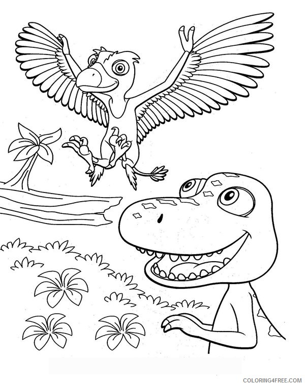 free dinosaur train coloring pages for kids Coloring4free