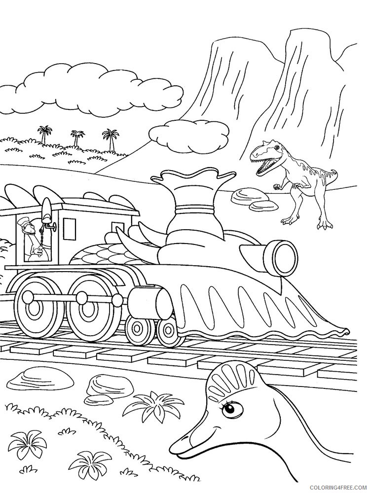 free dinosaur train coloring pages printable Coloring4free