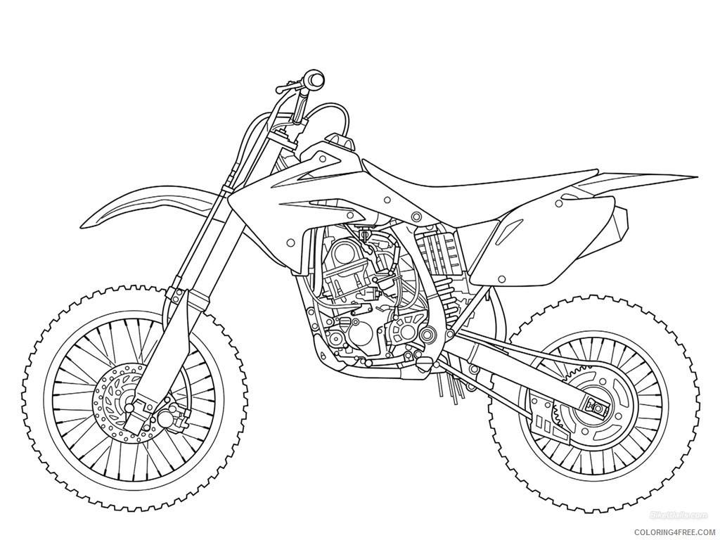 free dirt bike coloring pages to print Coloring4free