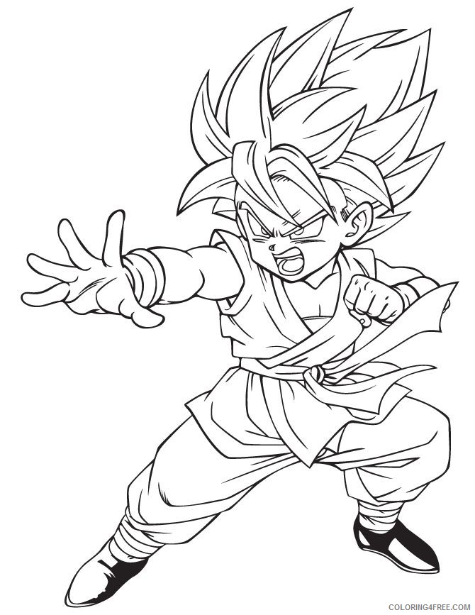 free dragon ball z coloring pages for kids Coloring4free
