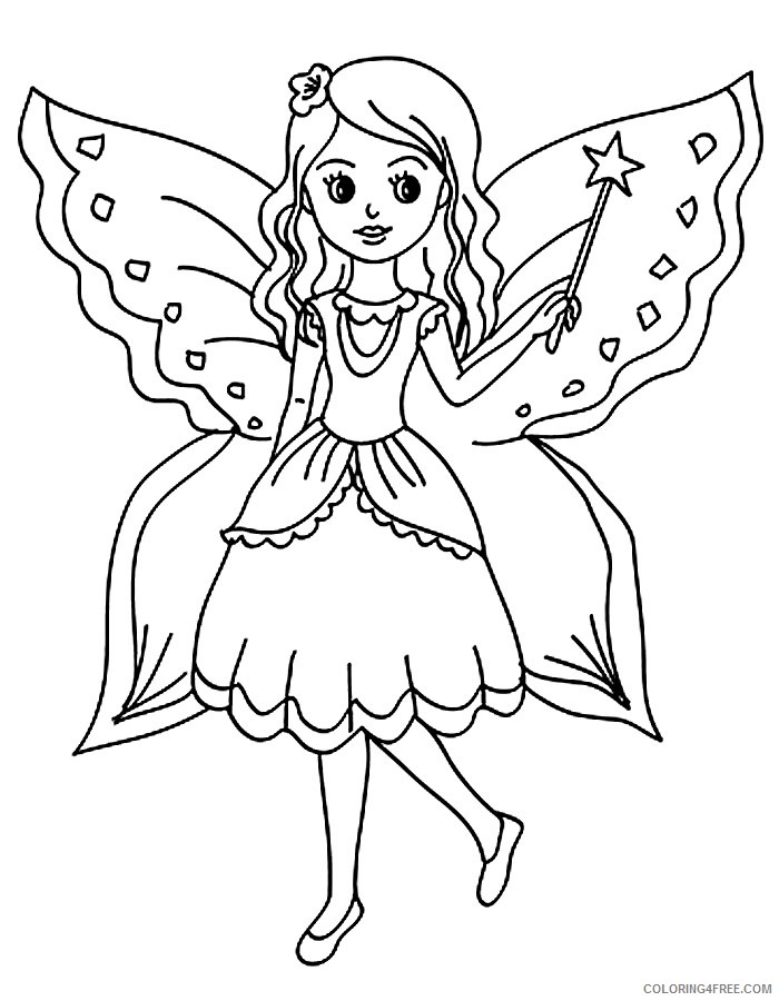 free fantasy coloring pages for kids Coloring4free